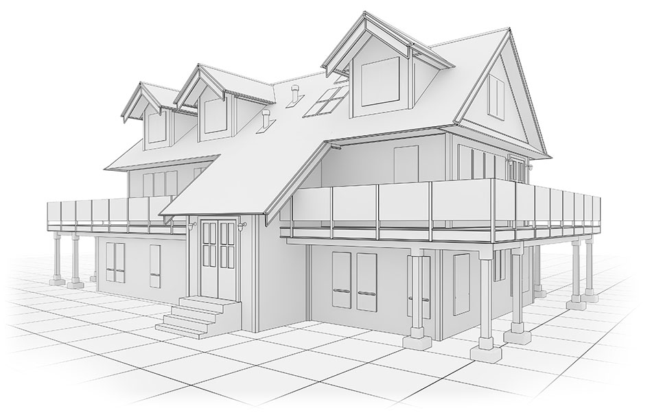 Drawing of house for home inspection